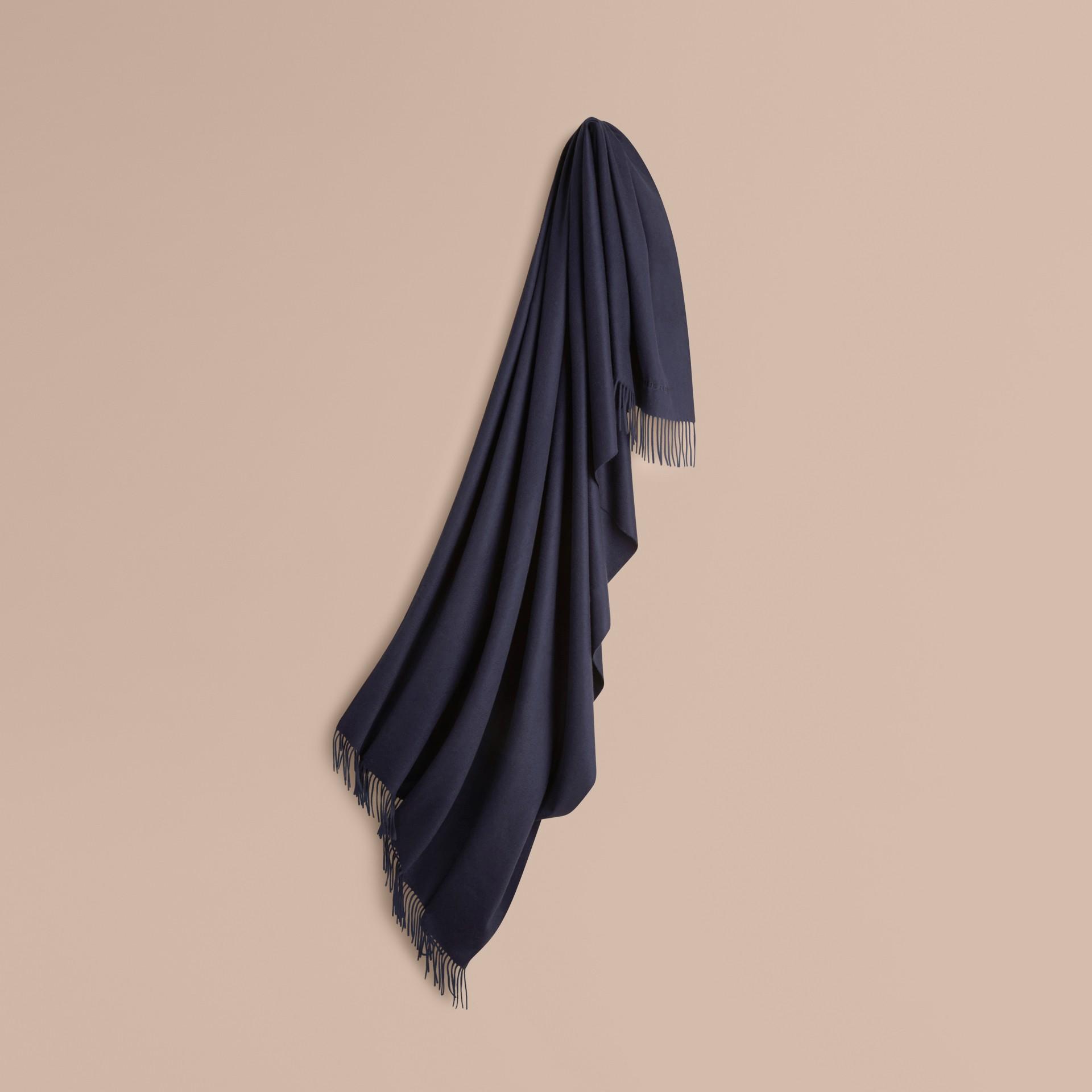 Indigo blue Cashmere Blanket Indigo Blue - gallery image 1