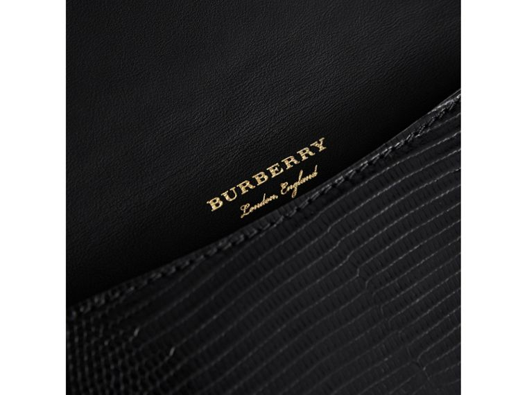 Equestrian Shield Riveted Lizard Phone Case in Black | Burberry Singapore - cell image 1