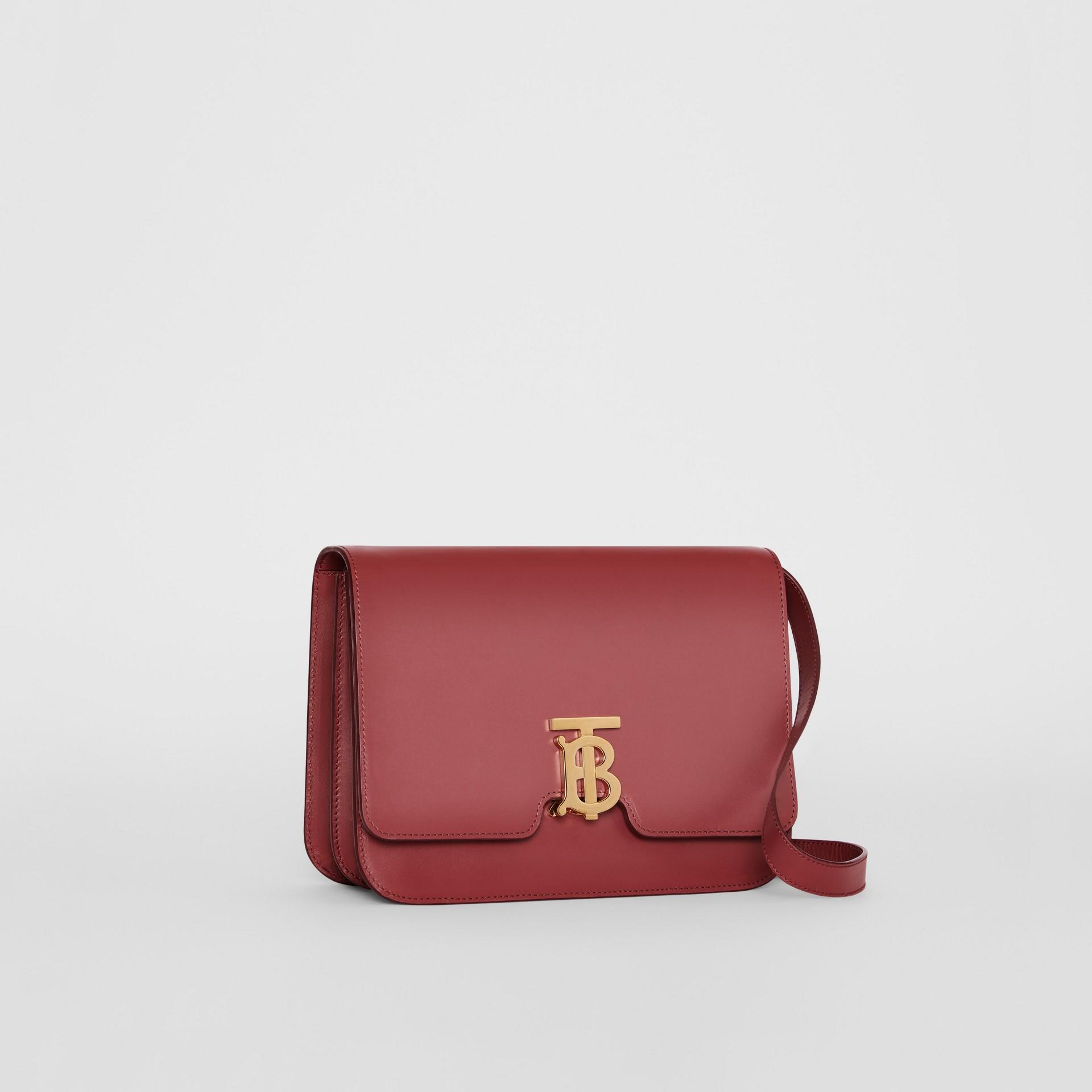 Medium Leather TB Bag in Crimson - Women   Burberry United States - gallery image 6
