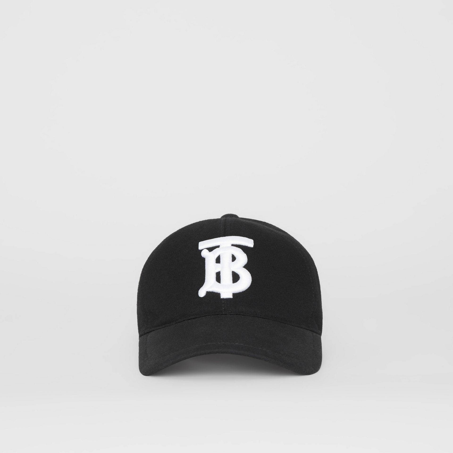 Monogram Motif Baseball Cap in Black | Burberry United States - gallery image 3