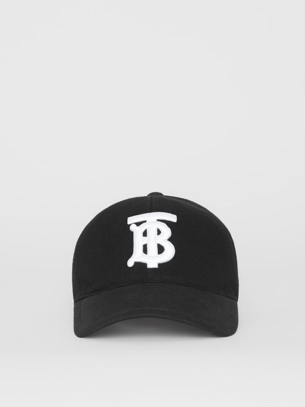 Monogram Motif Baseball Cap in Black | Burberry United States - cell image 3