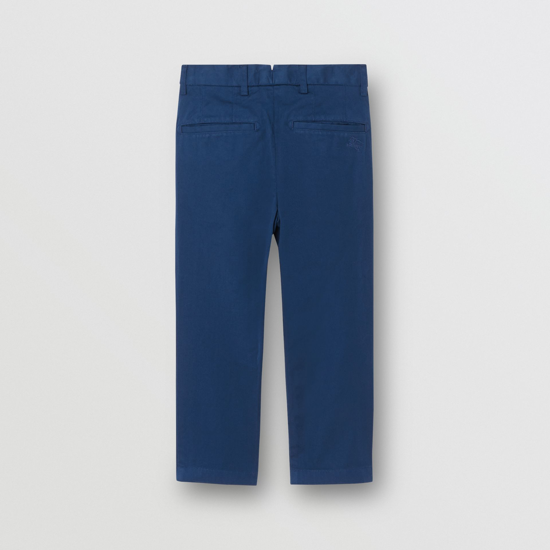 Cotton Chinos in Bright Navy | Burberry Canada - gallery image 3