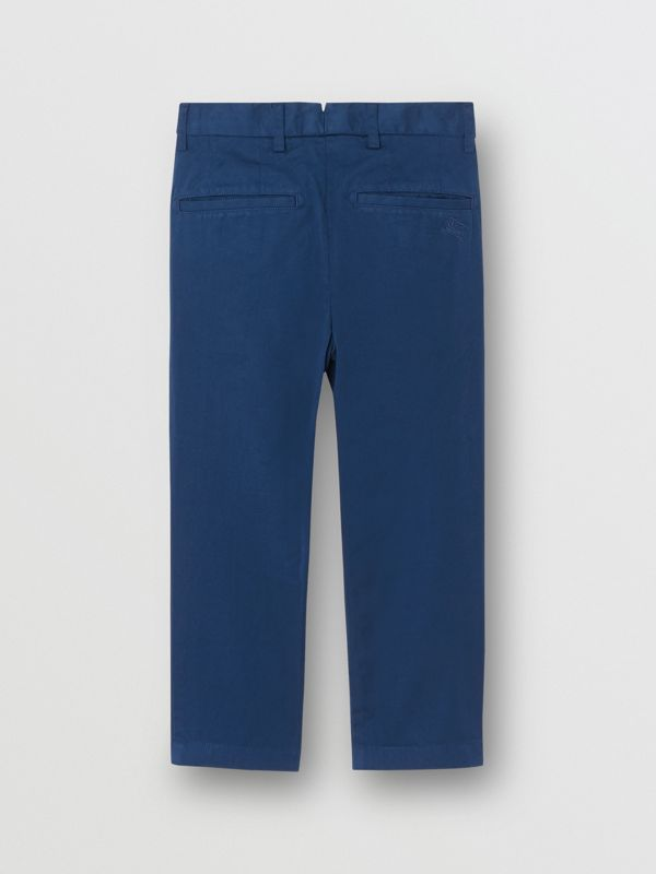 Cotton Chinos in Bright Navy | Burberry Canada - cell image 3