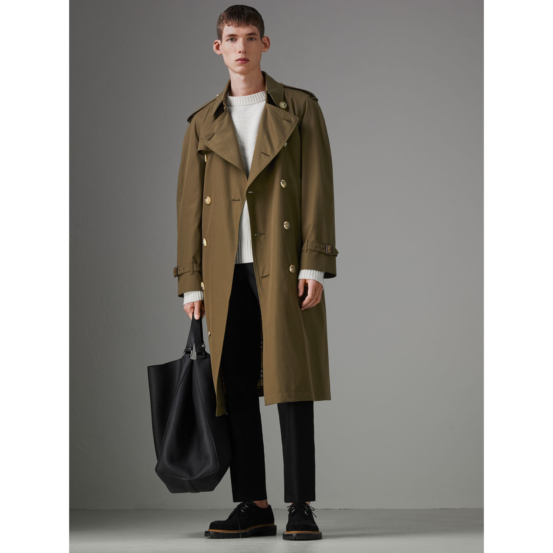 The Westminster Heritage Trench Coat in Dark Military Khaki - Men | Burberry - gallery image 6