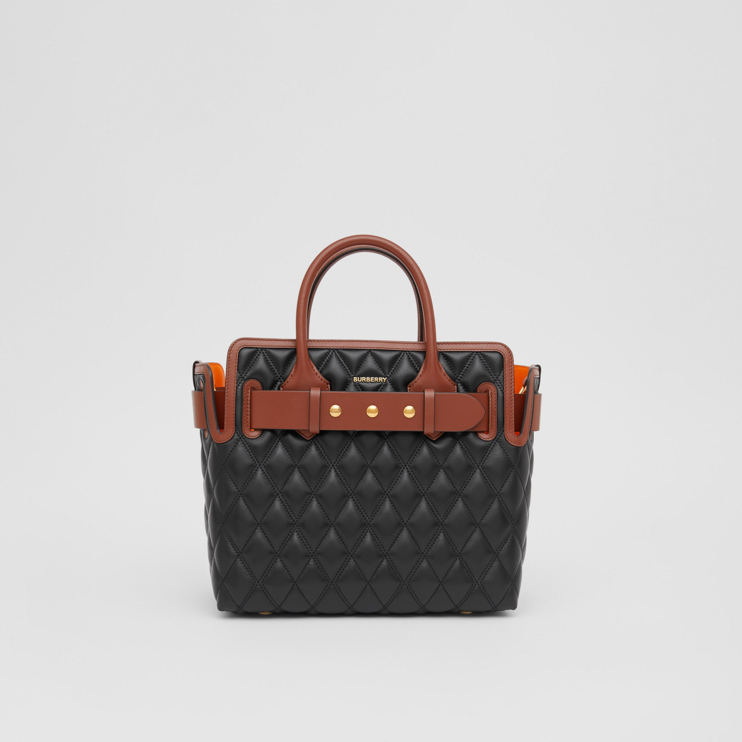 The Small Quilted Lambskin Triple Stud Belt Bag in Black - Women | Burberry - 1