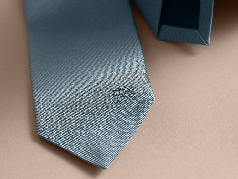 Slim Cut Silk Twill Tie Sky Blue - cell image 1