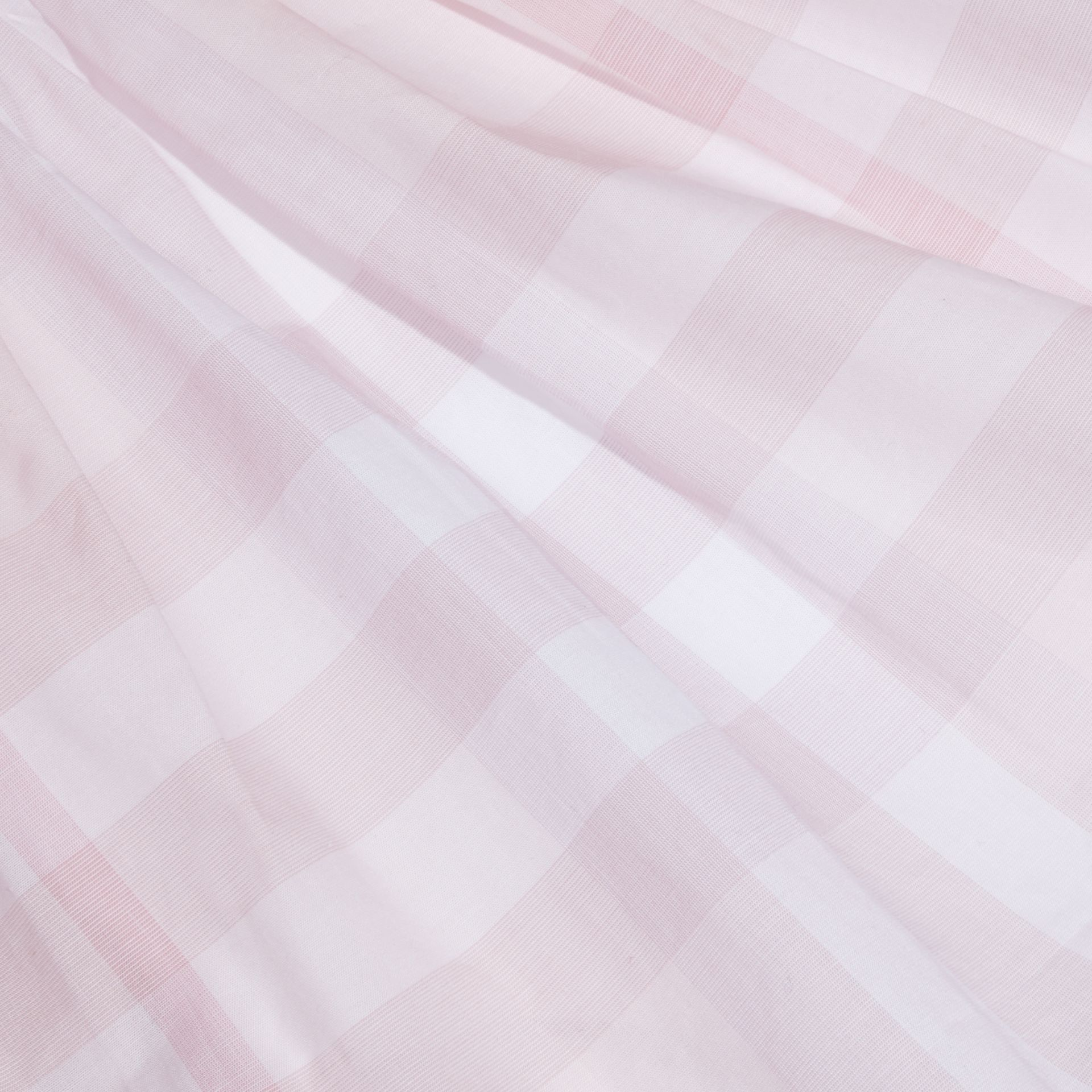 Check Detail Cotton Dress in Ice Pink | Burberry - gallery image 2