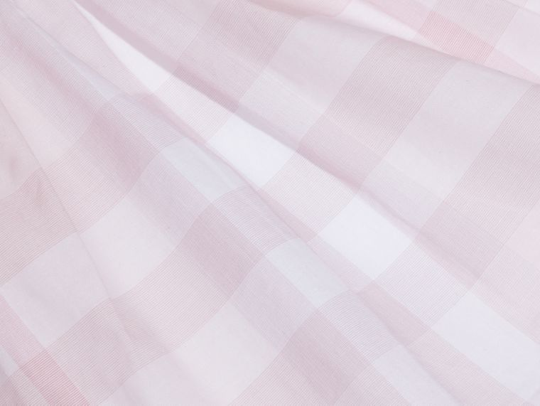 Check Detail Cotton Dress in Ice Pink | Burberry - cell image 1