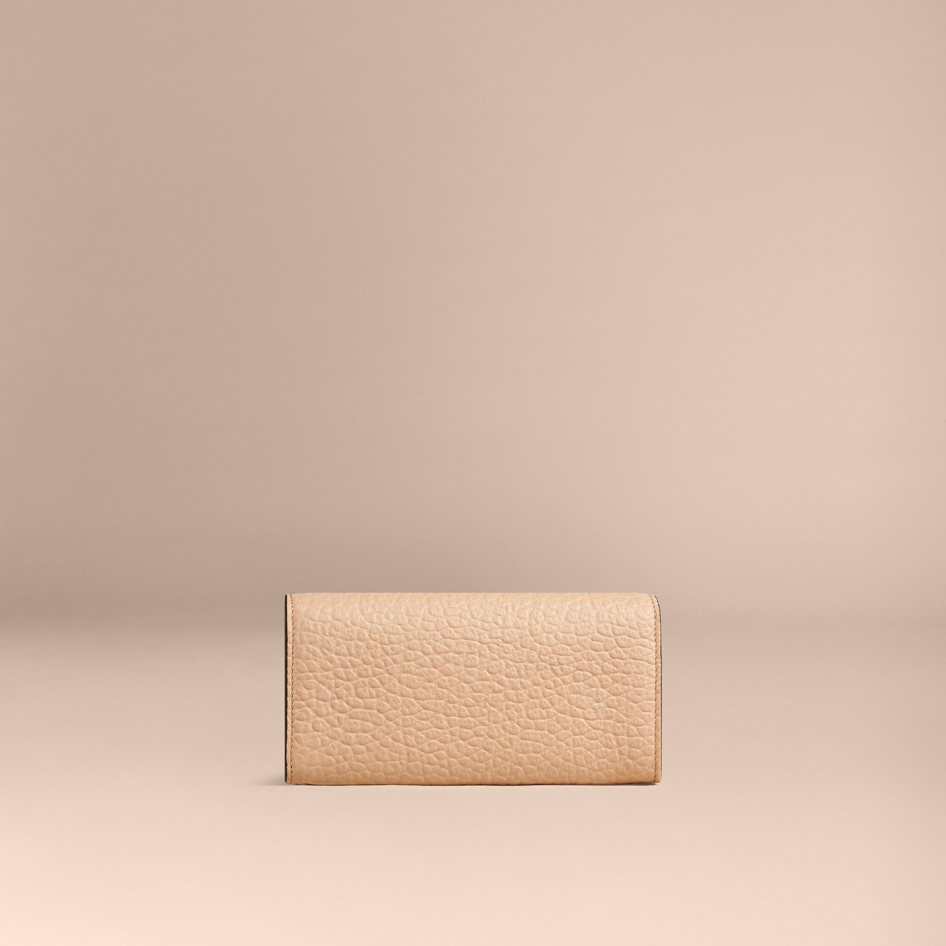 Pale apricot Signature Grain Leather Continental Wallet Pale Apricot - gallery image 2