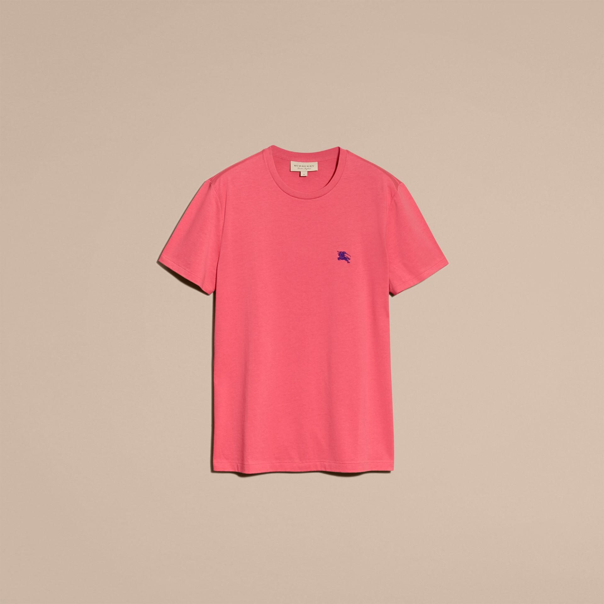 Cotton Jersey T-shirt Dusky Pink - gallery image 4