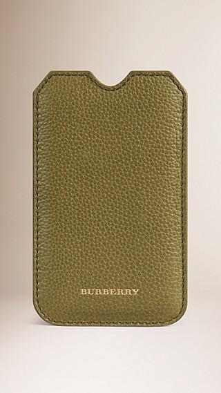 Étui pour iPhone5/5S en cuir grainé