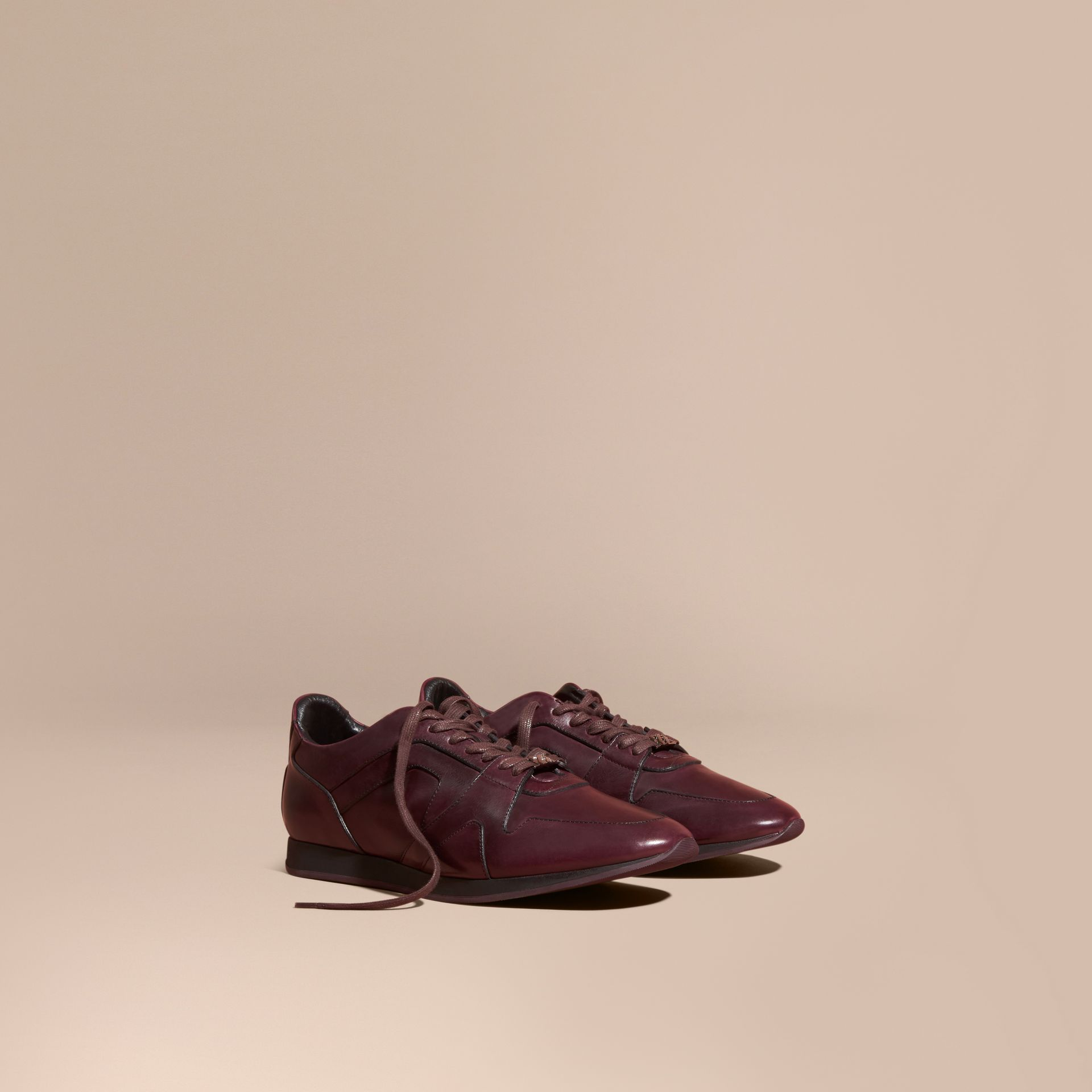 Elderberry The Field Sneaker in Leather Elderberry - gallery image 1