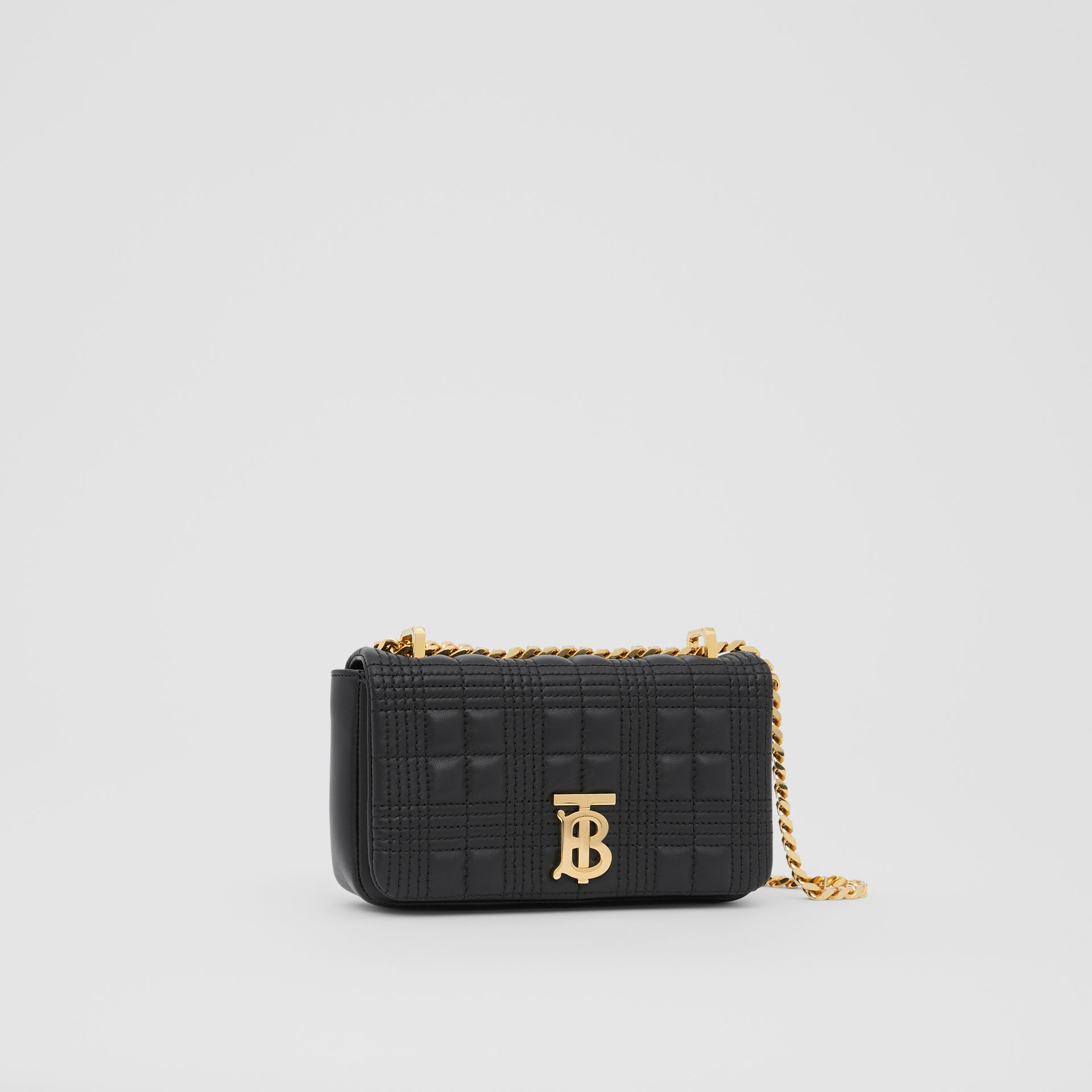 Mini Quilted Lambskin Lola Bag in Black/light Gold - Women | Burberry - gallery image 6