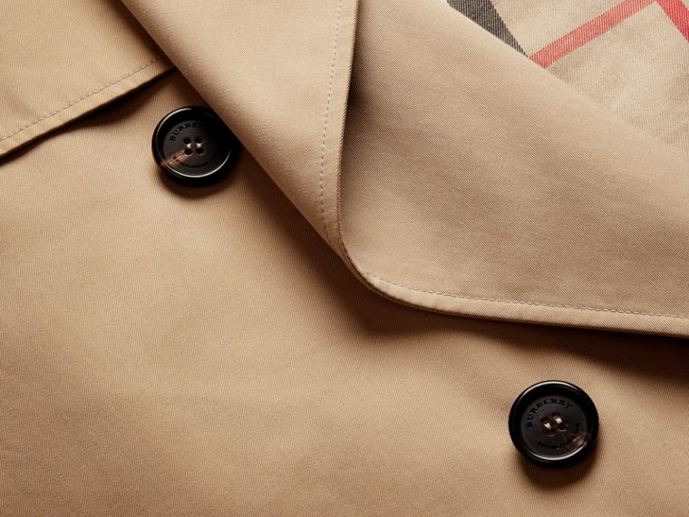 Honey Deconstructed Cotton Gabardine Heritage Trench Coat - cell image 1