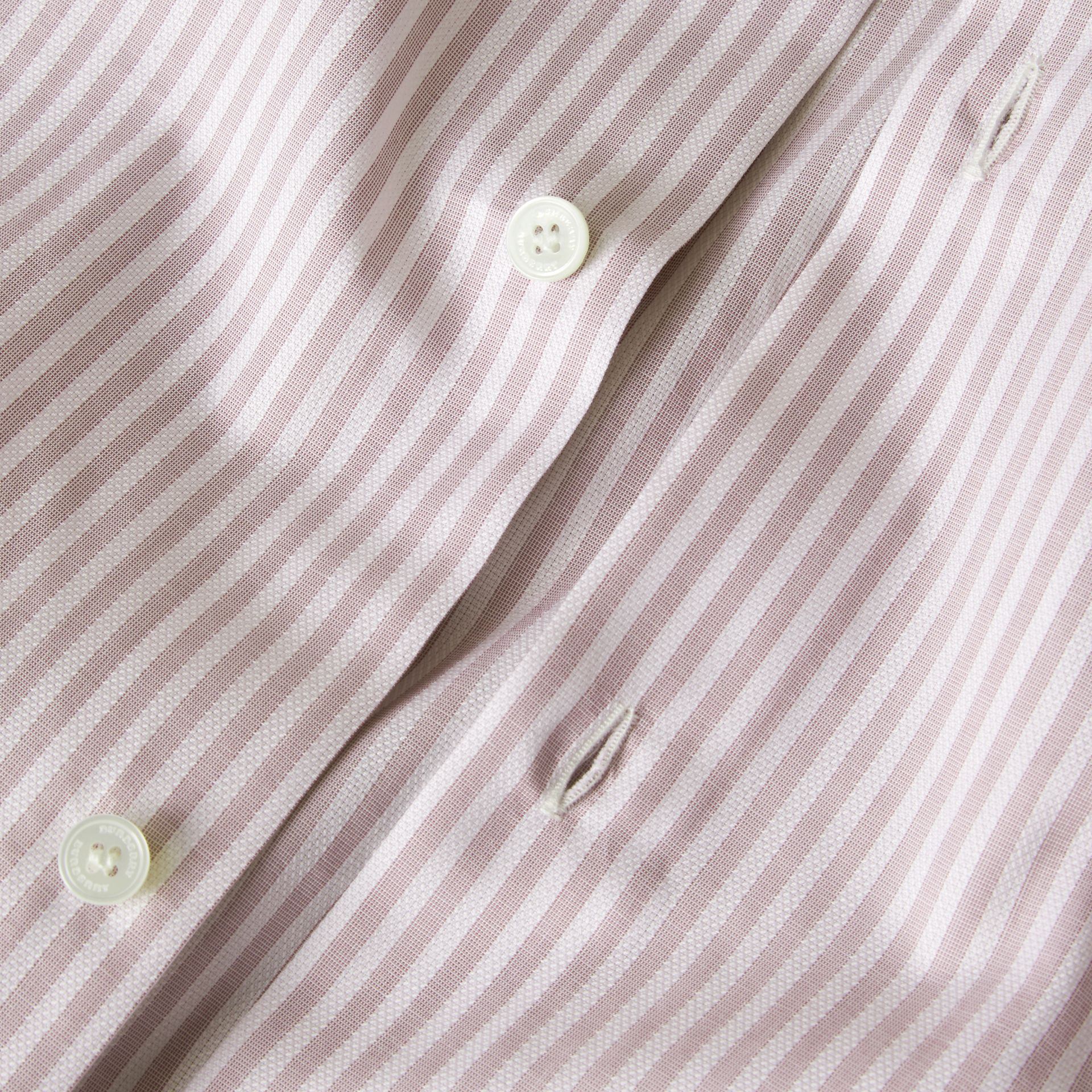 Heather Modern Fit Striped Cotton Shirt Heather - gallery image 2