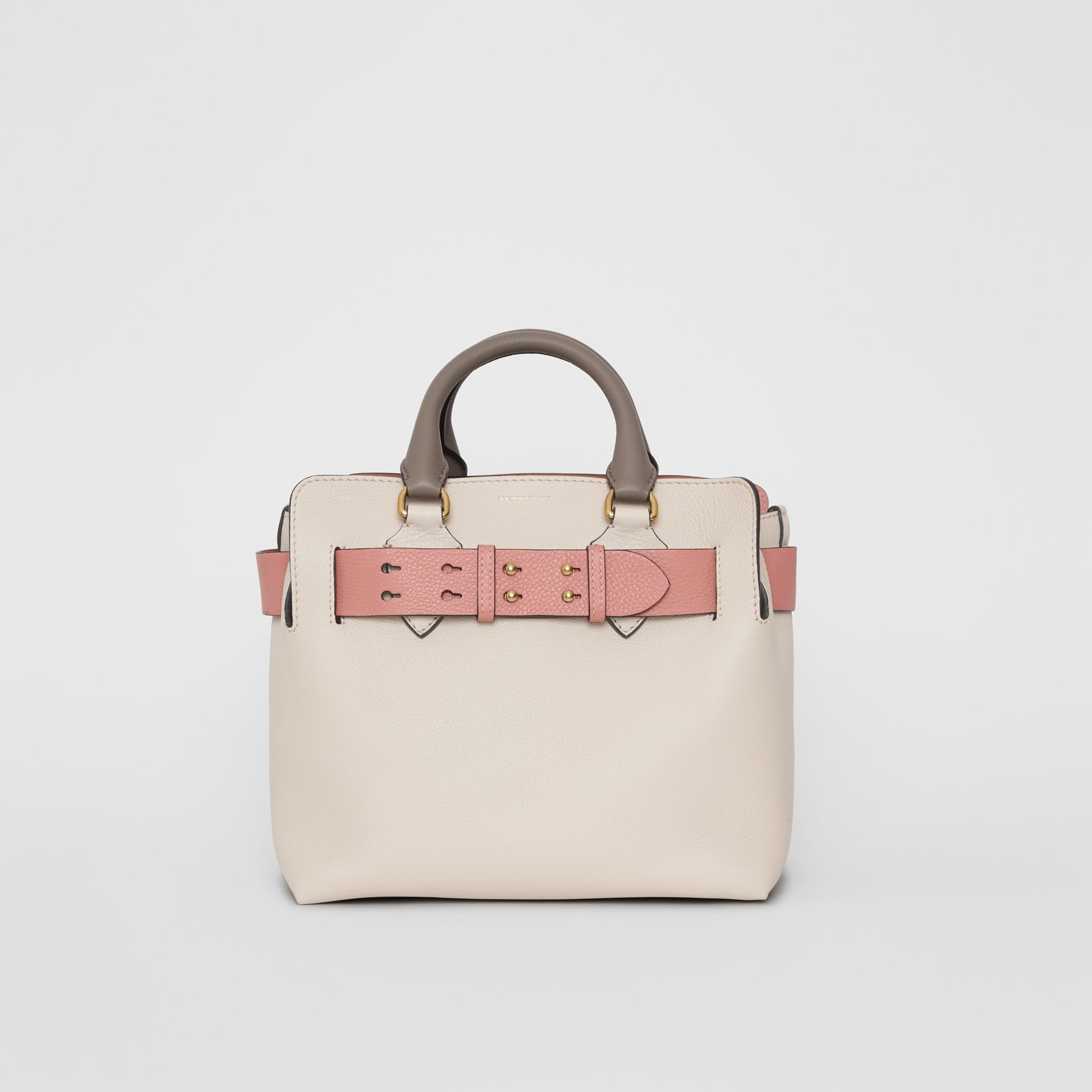 The Small Tri-tone Leather Belt Bag in Limestone/dusty Rose - Women | Burberry Singapore - gallery image 0
