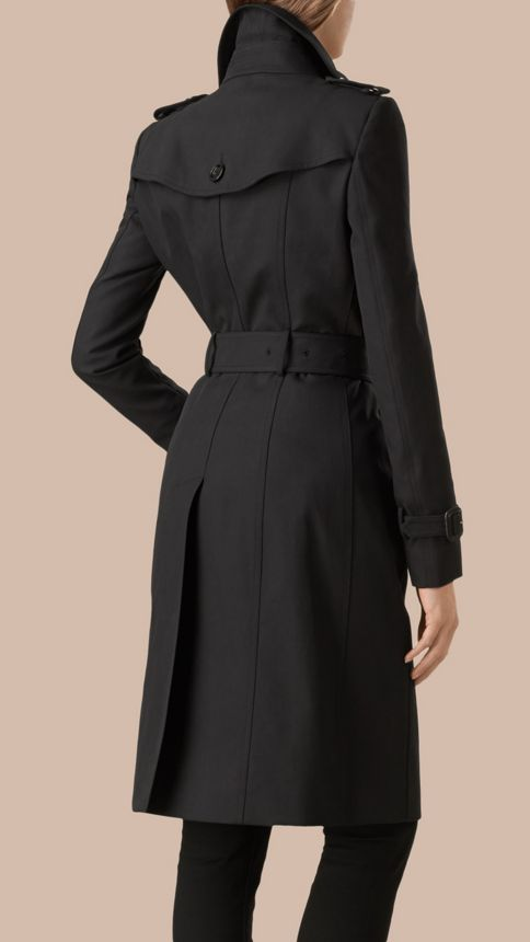Noir Trench-coat en gabardine de coton Noir - Image 4