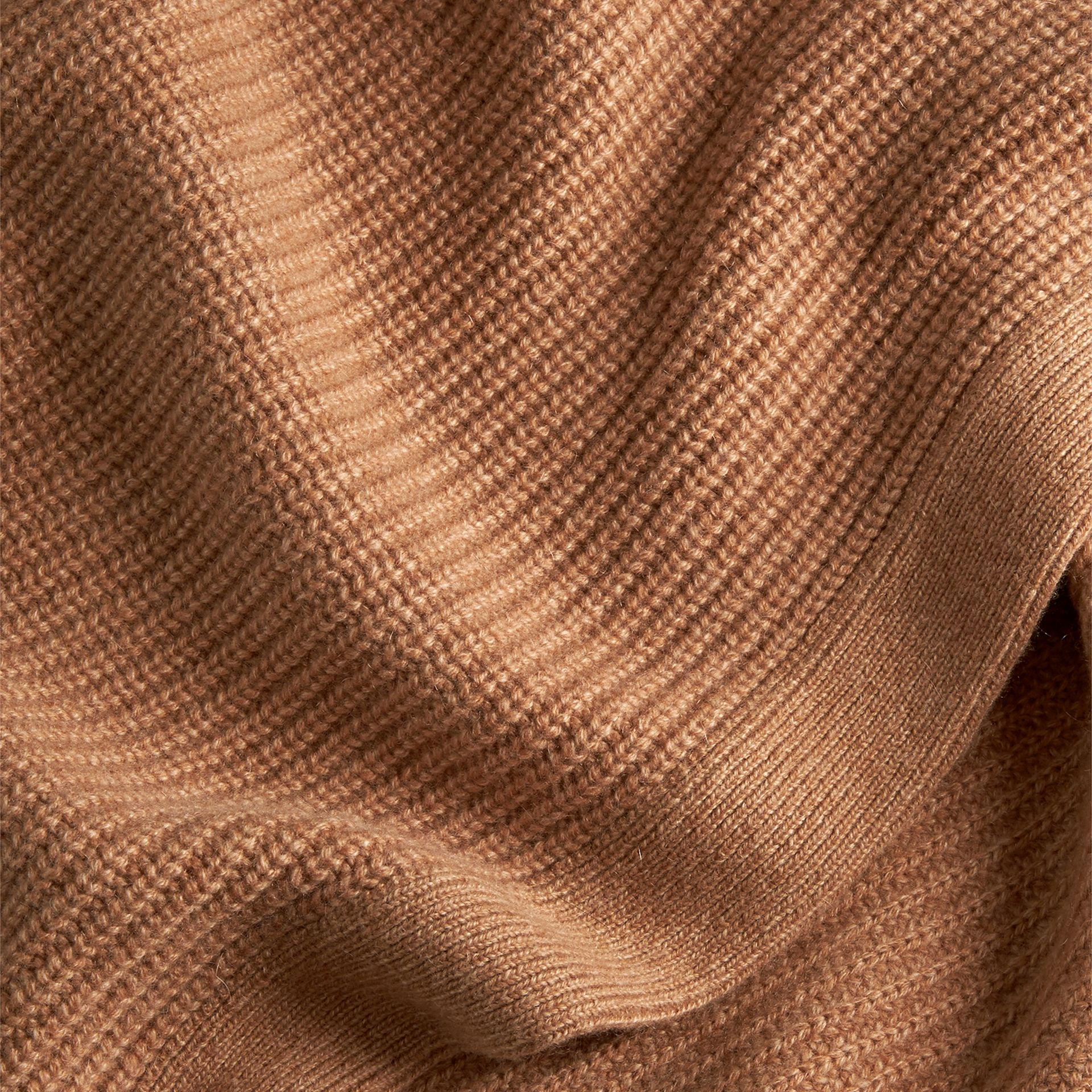 Camel Rib Cashmere Blanket Camel - gallery image 2