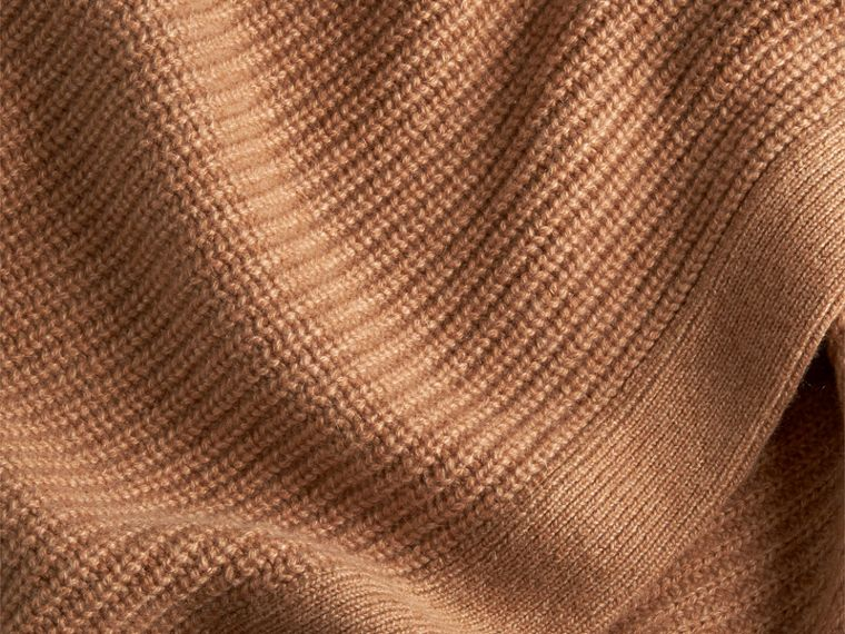 Camel Rib Cashmere Blanket Camel - cell image 1