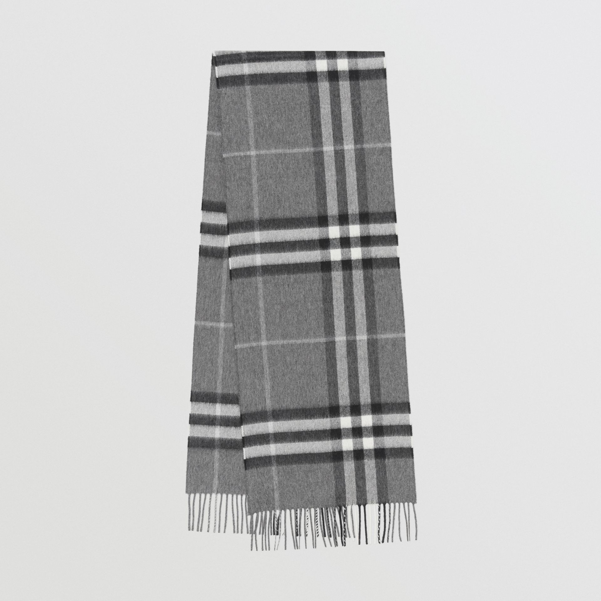 The Classic Check Cashmere Scarf in Grey | Burberry - gallery image 0