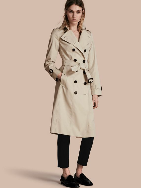 The Sandringham – Trench-coat Heritage extra-long Stone