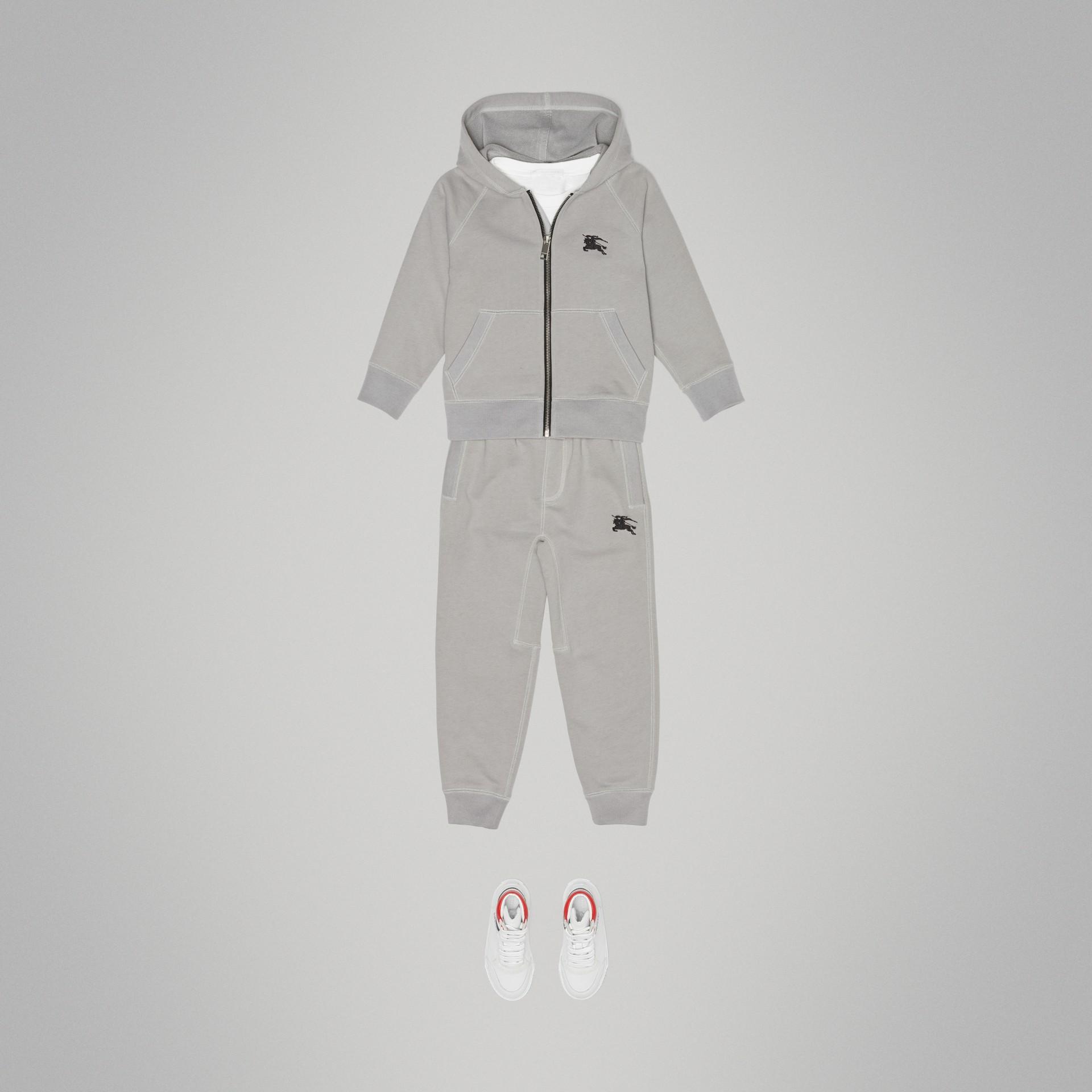Pantalon de survêtement en jersey de coton (Camaïeu  Gris Craie) | Burberry - photo de la galerie 2