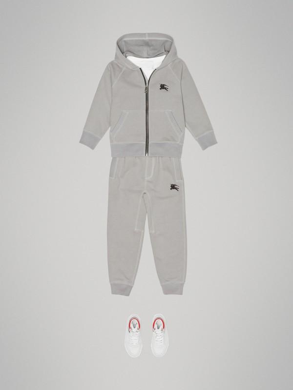 Pantalon de survêtement en jersey de coton (Camaïeu  Gris Craie) | Burberry - cell image 2