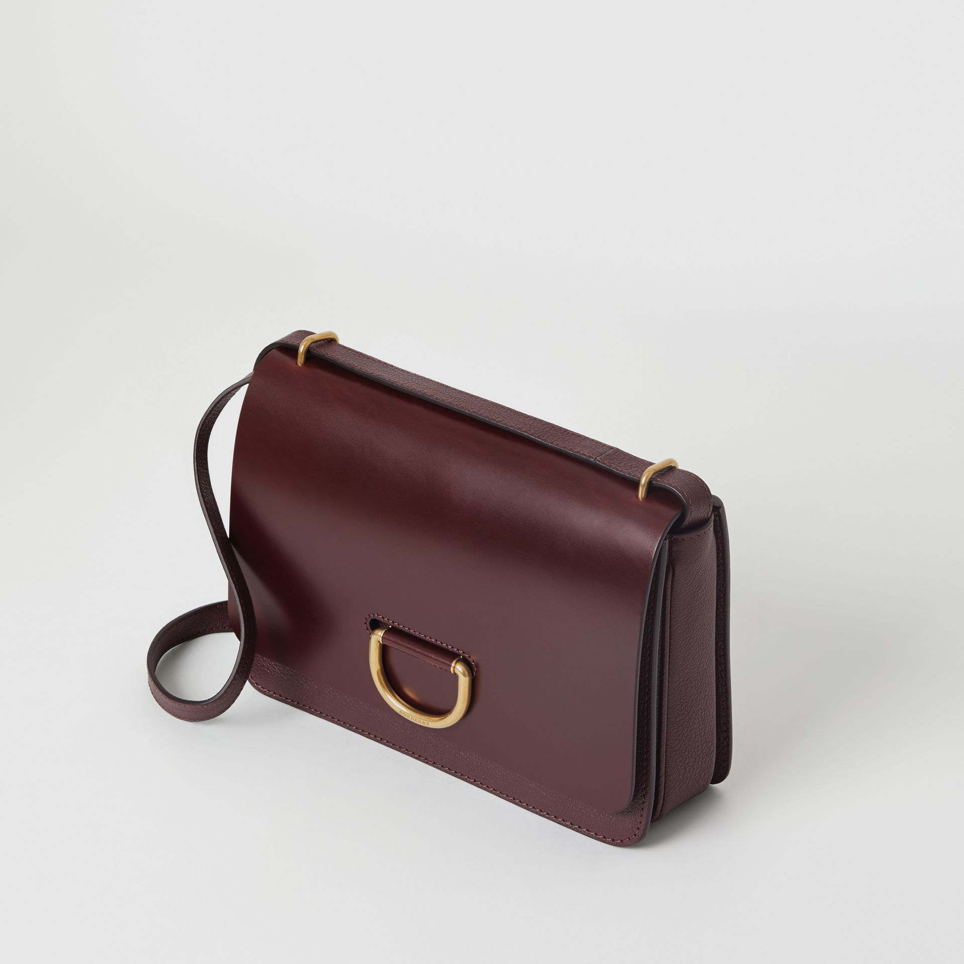 The Medium Leather D-ring Bag in Deep Claret - Women | Burberry Singapore - gallery image 4