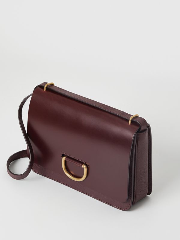 The Medium Leather D-ring Bag in Deep Claret - Women | Burberry - cell image 3
