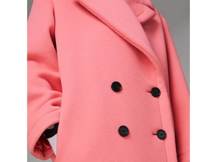 Manteau cocon en laine et cachemire double face (Rose Corail Vif) - Femme | Burberry Canada - cell image 1