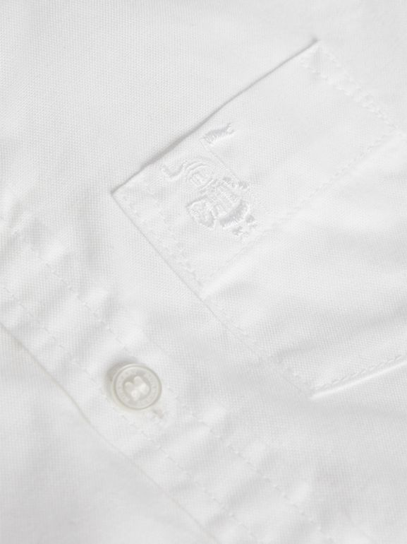Cotton Oxford Shirt in White | Burberry - cell image 1