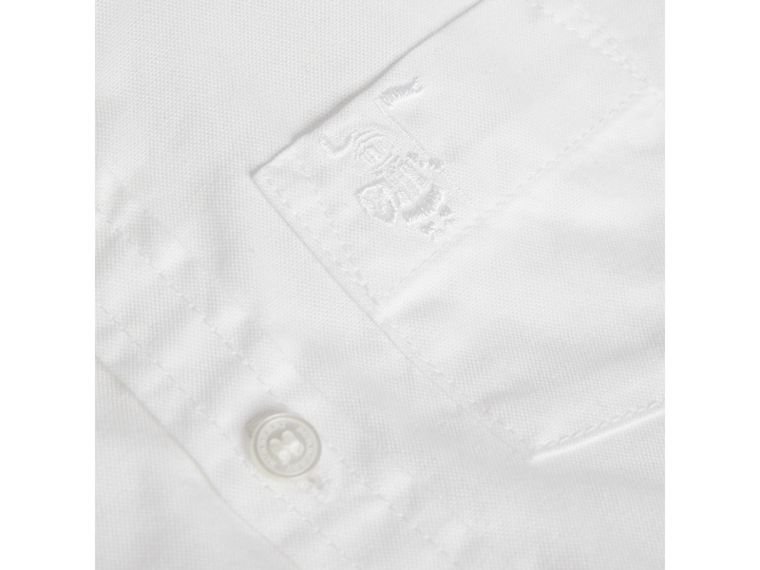 Cotton Oxford Shirt in White - Boy | Burberry Australia - cell image 1