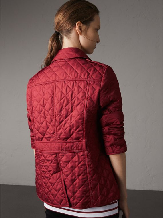 Diamond Quilted Jacket in Parade Red - Women | Burberry Australia - cell image 2