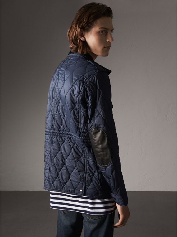 Diamond Quilted Field Jacket in Navy - Men | Burberry - cell image 2