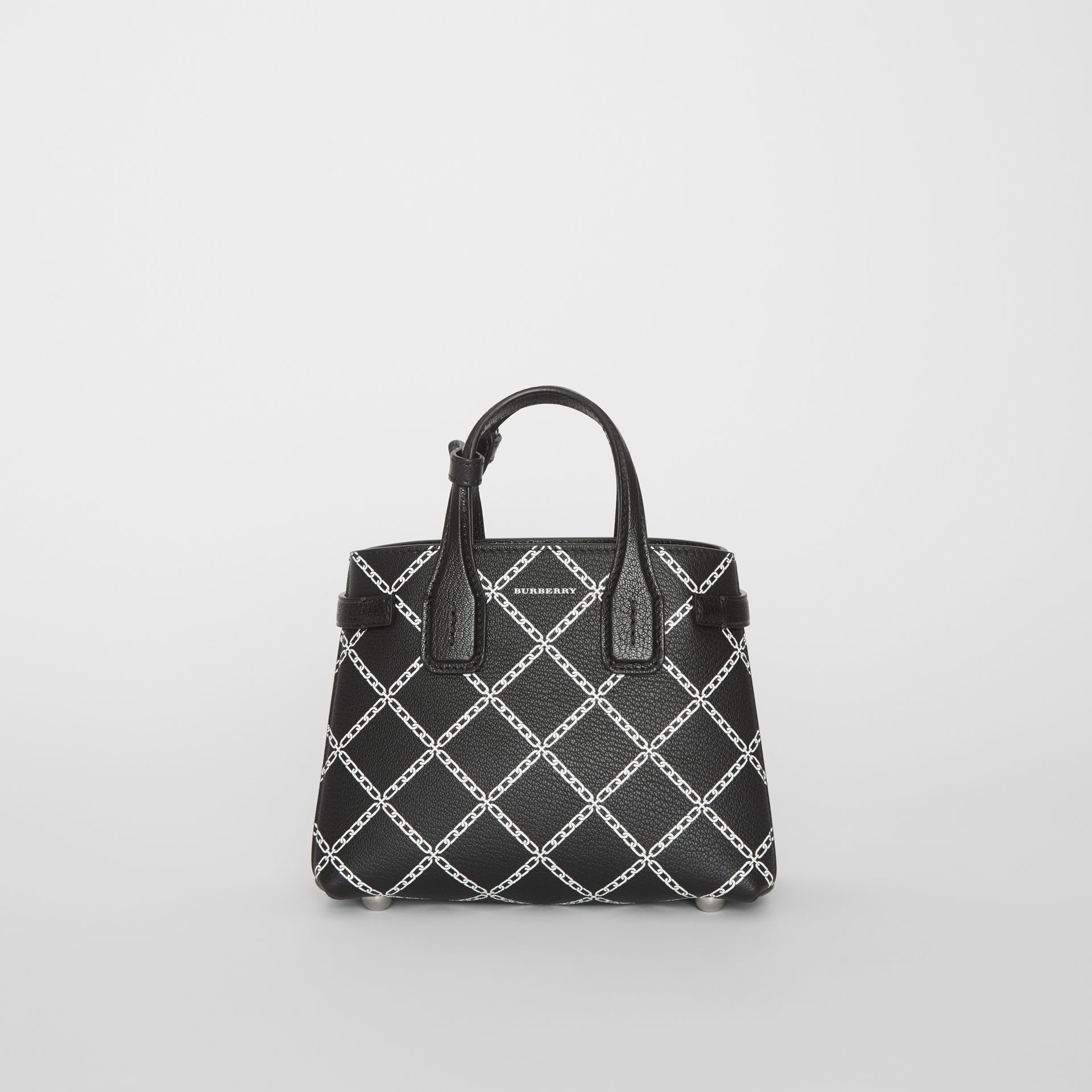 The Baby Banner in Link Print Leather in Black - Women | Burberry - gallery image 6