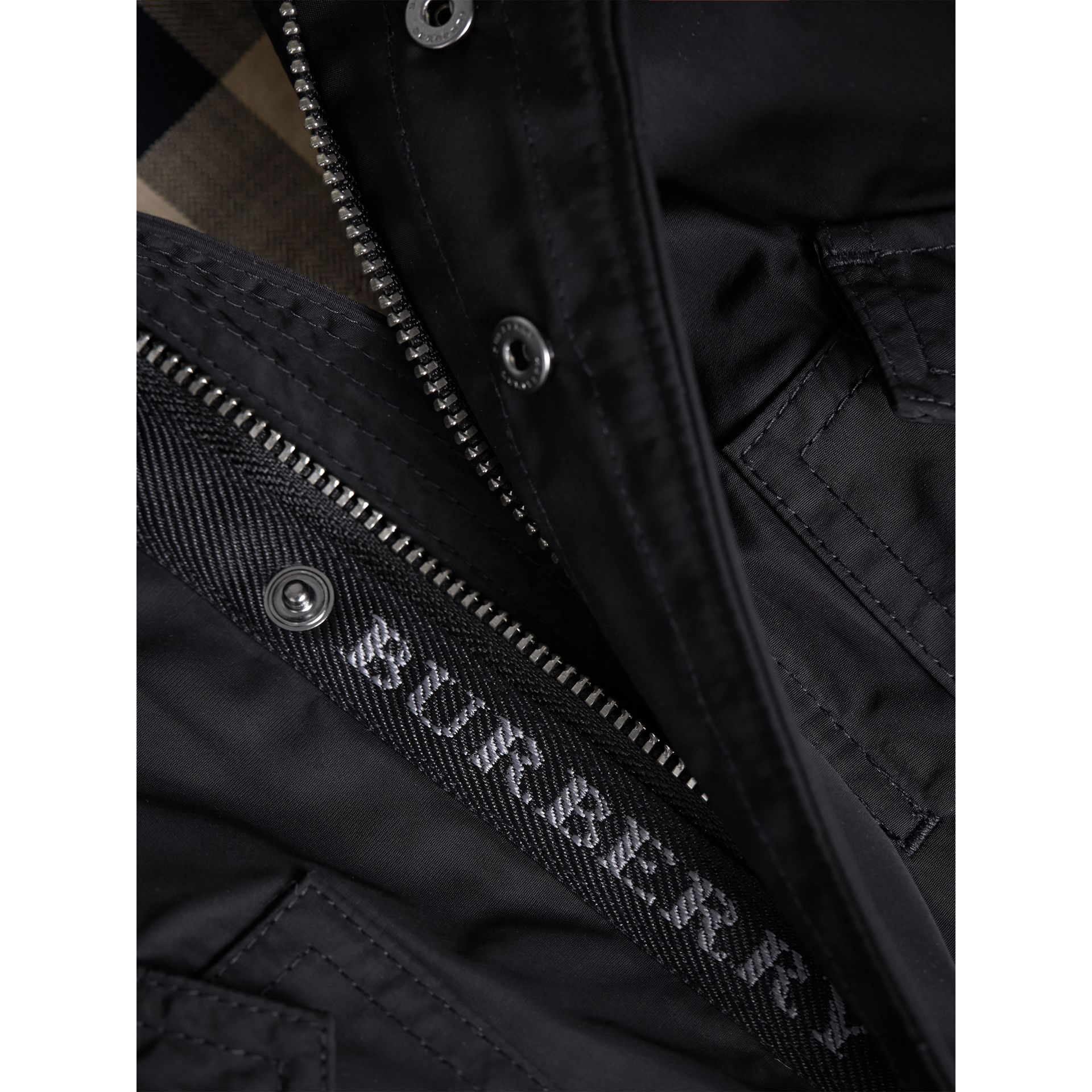 Shape-memory Taffeta Parka with Detachable Gilet in Black | Burberry - gallery image 2