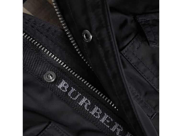 Shape-memory Taffeta Parka with Detachable Gilet in Black | Burberry - cell image 1