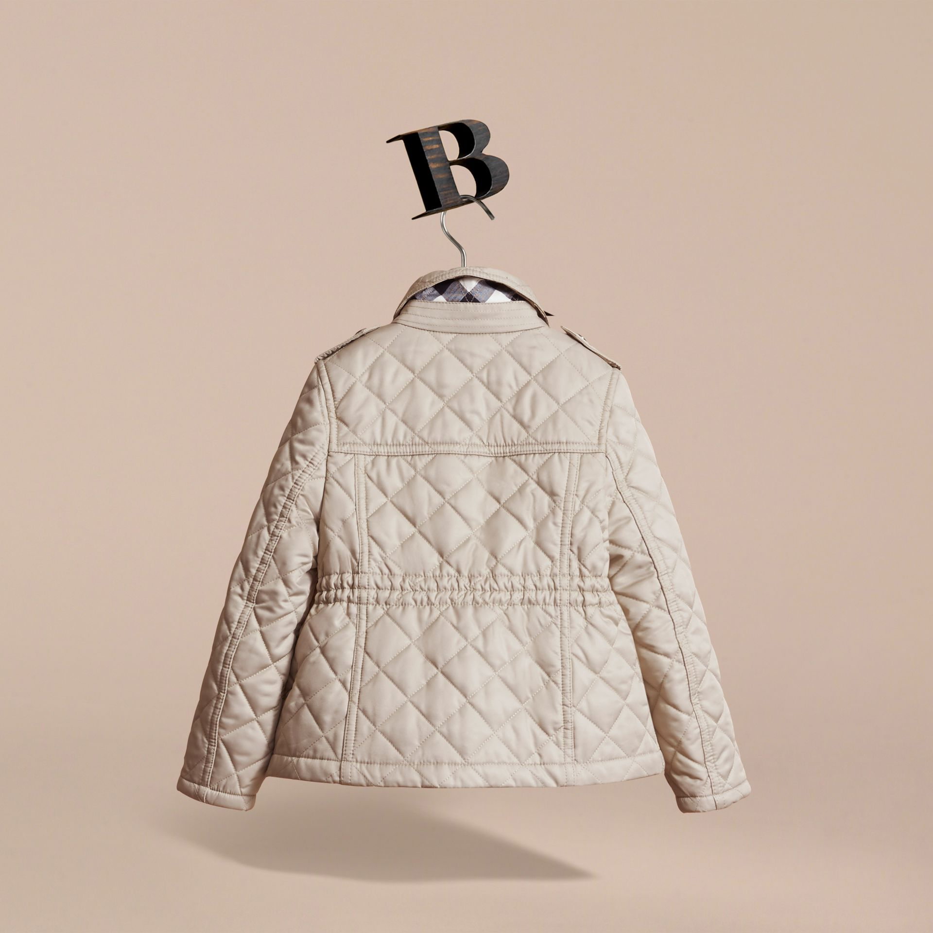 Quilted Field Jacket in Mink - Girl | Burberry - gallery image 4