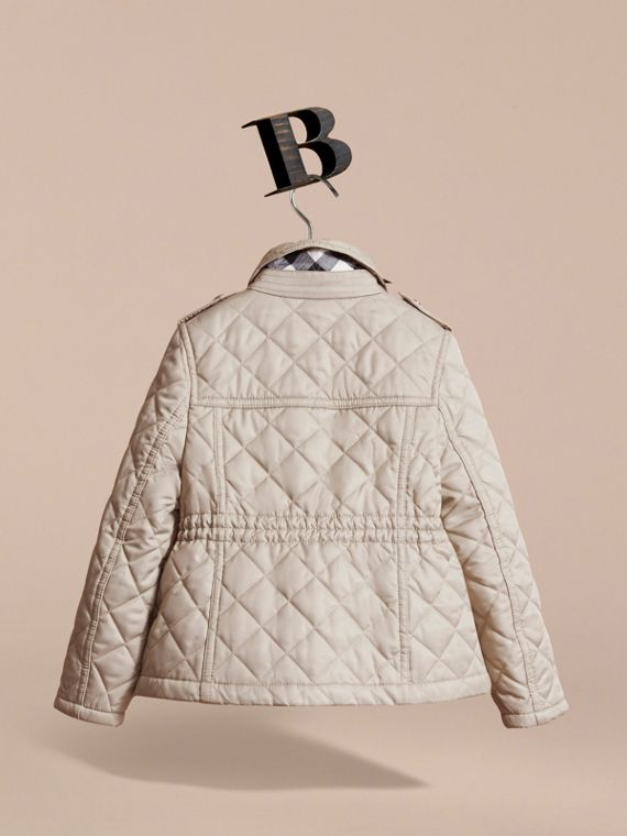 Quilted Field Jacket in Mink - Girl | Burberry - cell image 3