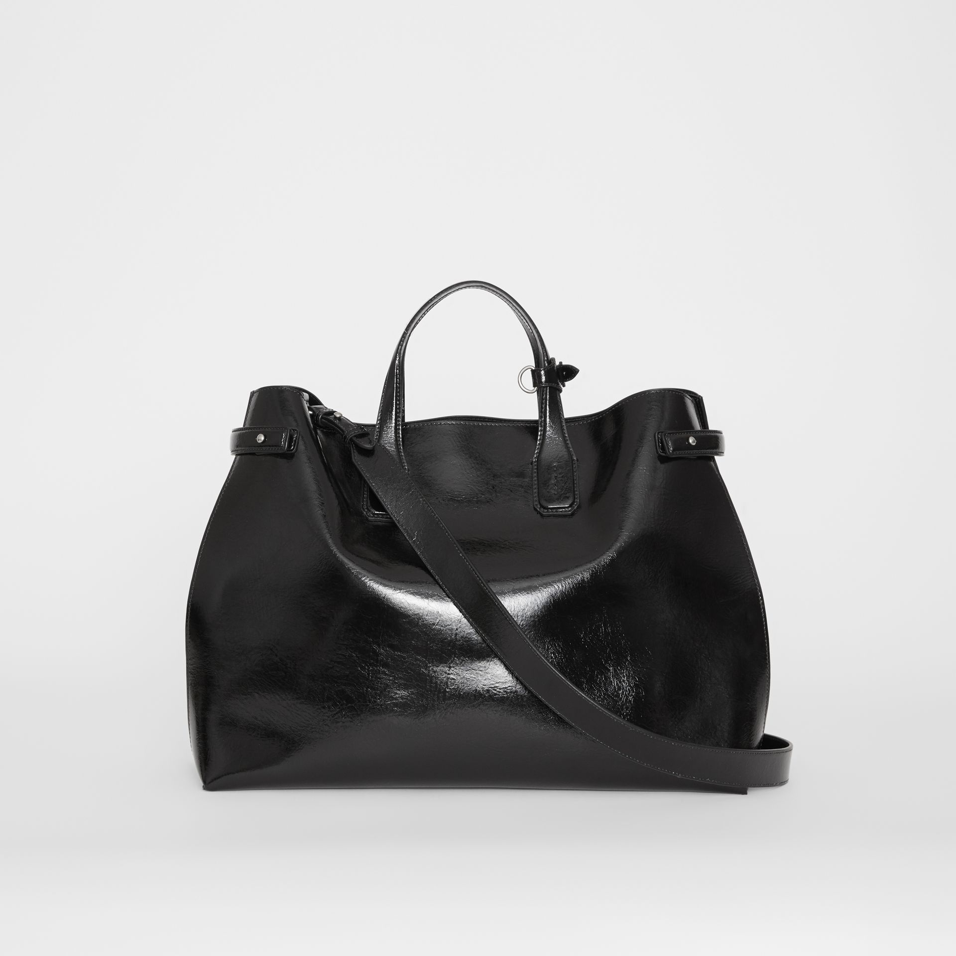 Grand sac The Banner en cuir doux (Noir) - Femme | Burberry Canada - photo de la galerie 7