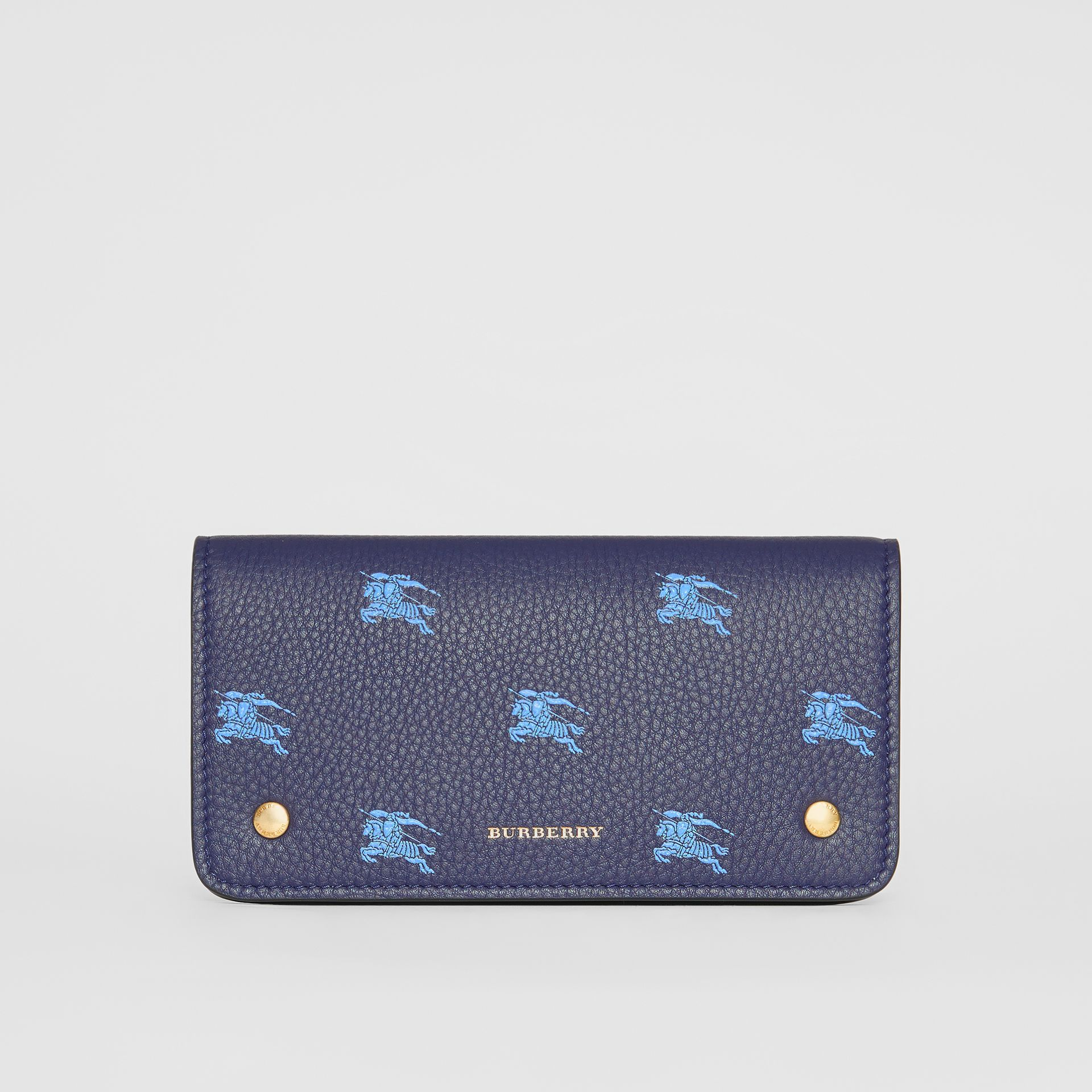 EKD Leather Phone Wallet in Regency Blue - Women | Burberry Australia - gallery image 0