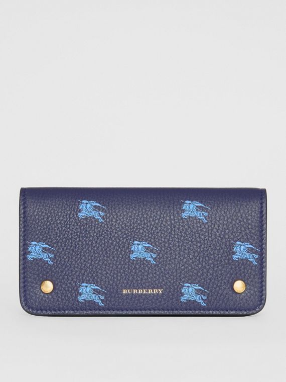 EKD Leather Phone Wallet in Regency Blue
