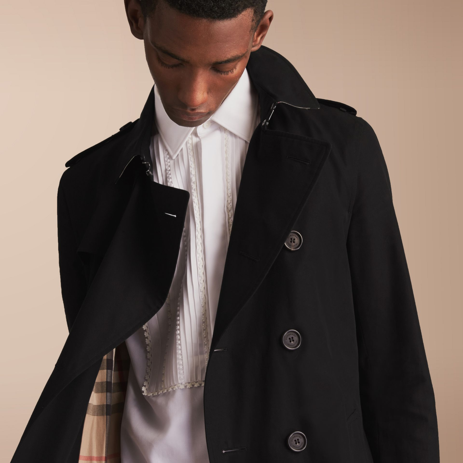 The Sandringham – Long Heritage Trench Coat Black - gallery image 9