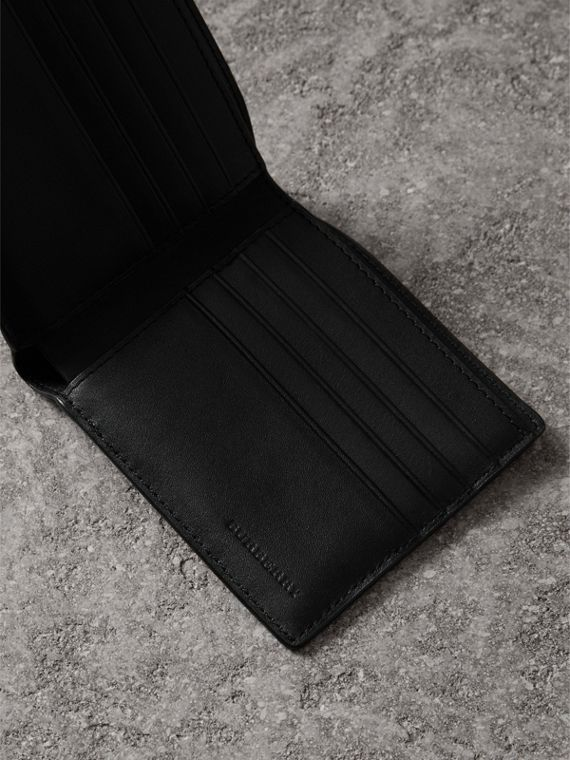 London Check International Bifold Wallet in Navy/black - Men | Burberry Canada - cell image 3