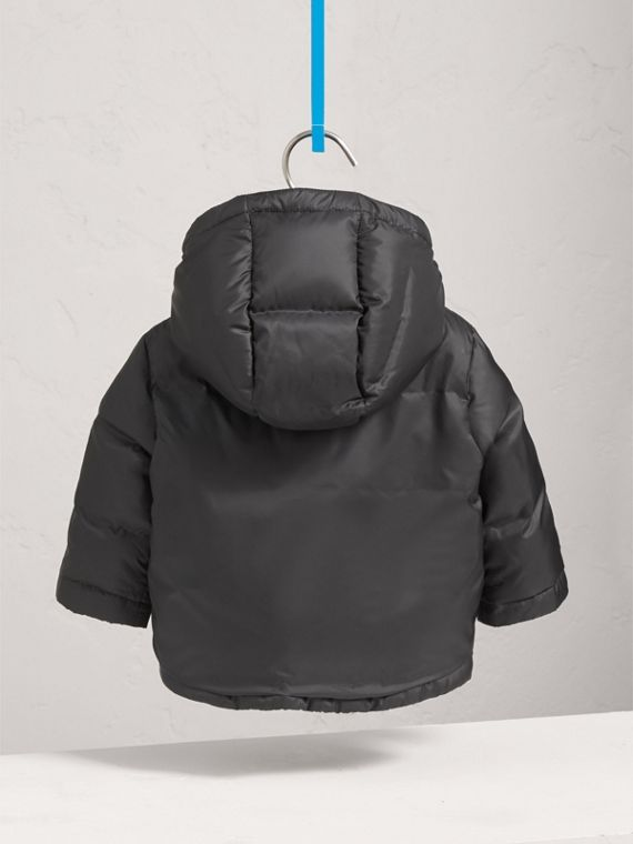 Down-filled Hooded Puffer Jacket in Charcoal | Burberry Canada - cell image 3