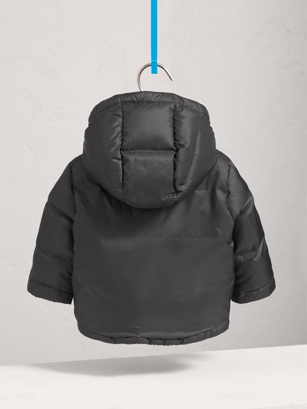 Down-filled Hooded Puffer Jacket in Charcoal | Burberry - cell image 3