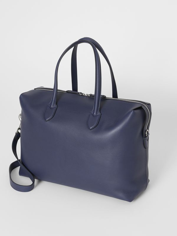 Soft Leather Holdall in Regency Blue - Men | Burberry - cell image 3