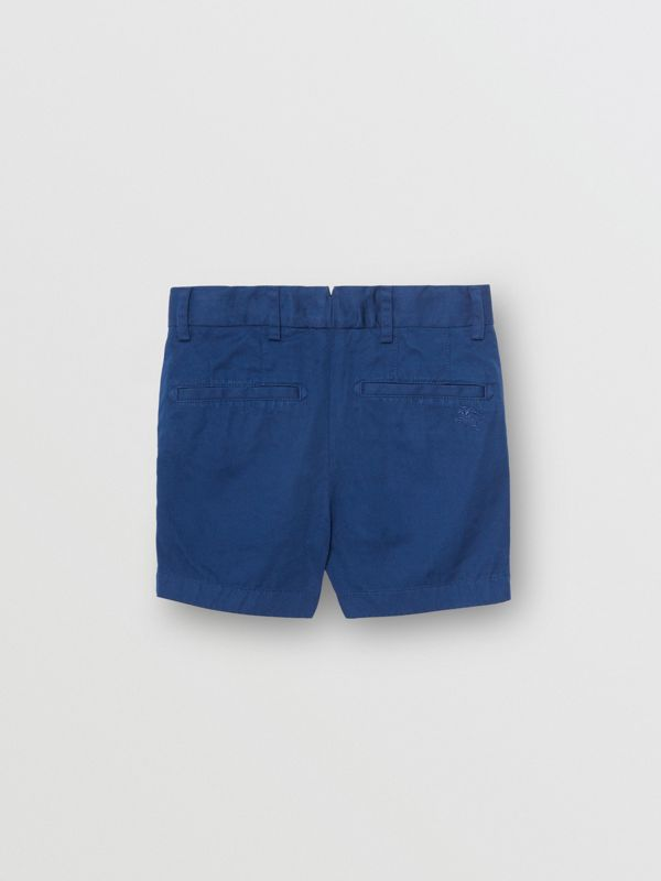 Cotton Chino Shorts in Bright Navy - Children | Burberry - cell image 3