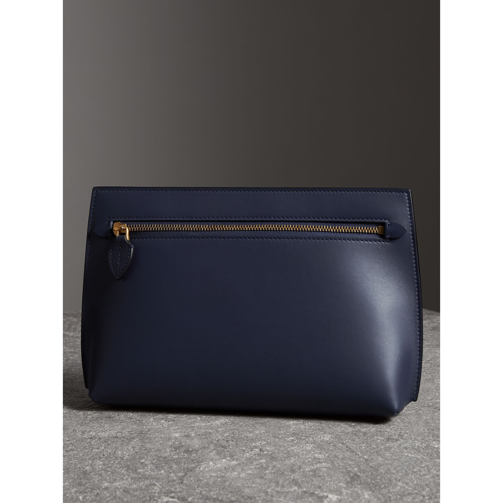 Leather Wristlet Clutch in Mid Indigo - Women | Burberry United States - gallery image 5