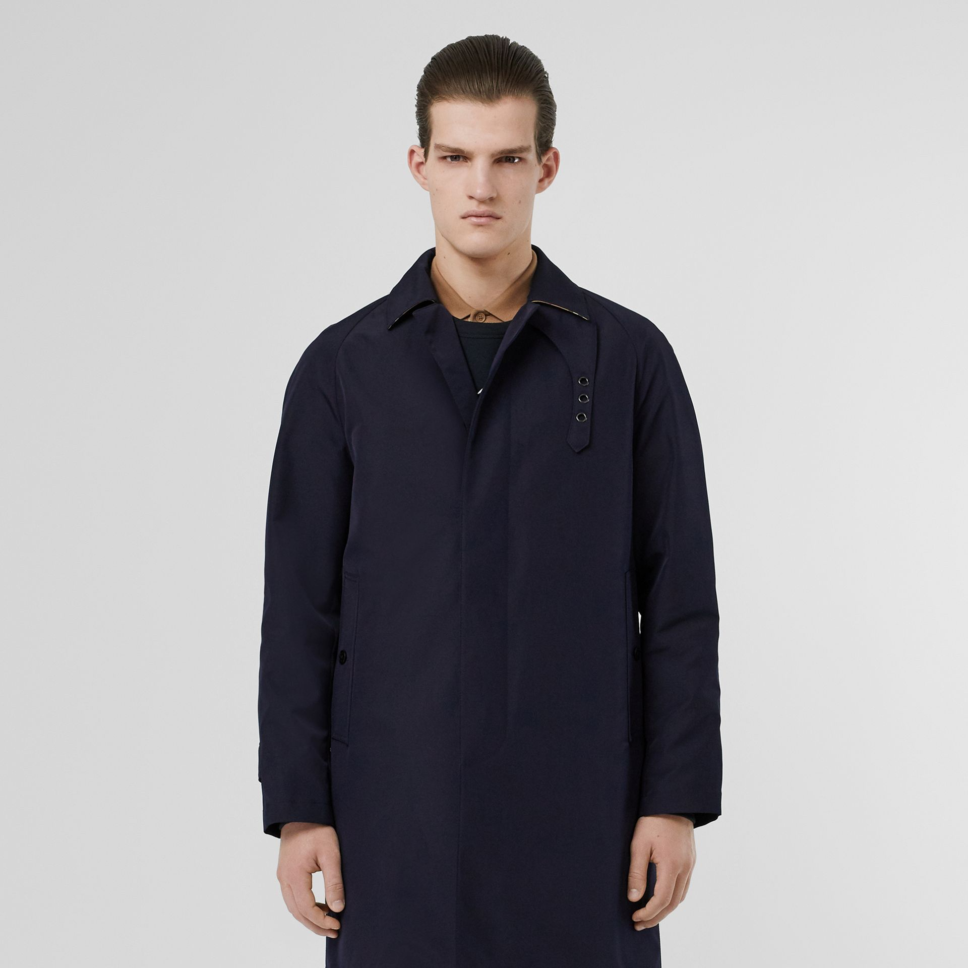 Bonded Car Coat with Warmer in Navy - Men | Burberry - gallery image 8